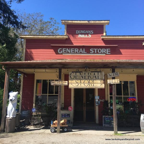 exterior of Duncans Mills General Store in Duncans Mills, California