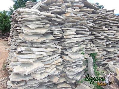 Chapa de pedra moledo para piso de pedra com espessura de 3 cm a 8 cm.