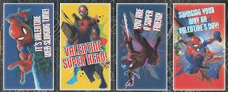 First four Marvel Spider-Man Valentines