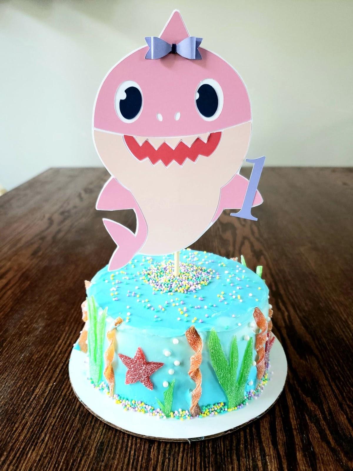 Stupendous Once Daily Diy Baby Shark Ocean Themed Cake Funny Birthday Cards Online Hendilapandamsfinfo