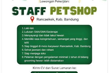 Loker Bandung Staff Petshope Kaisar Petcare