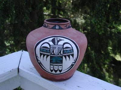 Native American Urn, Eagle Urn