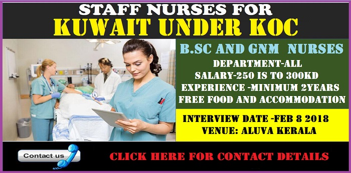 Urgent vacancy For Nurses In KOC (UNDER) - KUWAIT ~ WORLD4NURSES