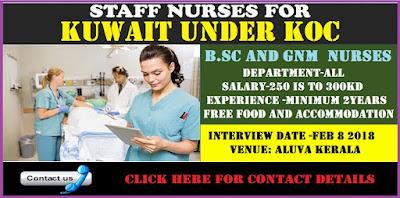 Urgent vacancy For Nurses In KOC (UNDER) - KUWAIT