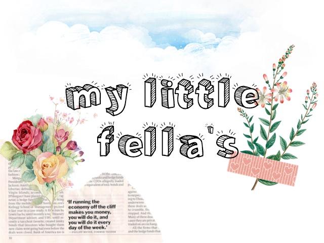 Senarai Bloglist My Litte Fellas II