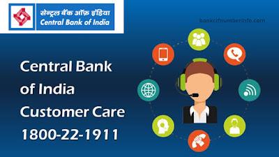 Central Bank of India Balance Check Customer care