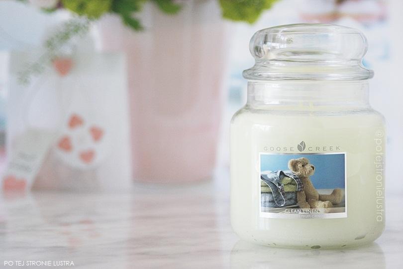 świeca zapachowa goose creek clean linen