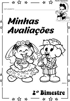 Capas para envelopes de atividades Turma da Mônica