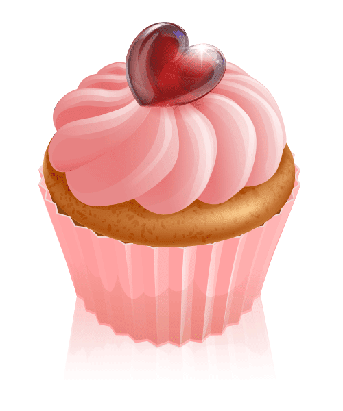 Heart on a Cupcake