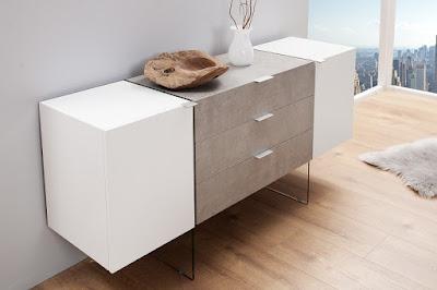 komody Reaction, nabytek s odkládacím prostorem, bílý nábytek