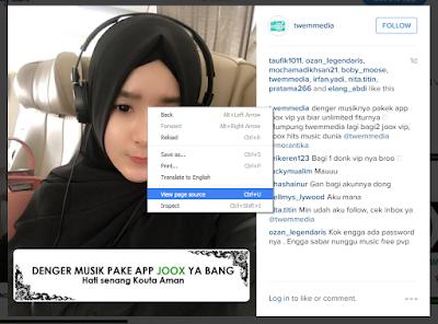 Cara Mengambil/Download Foto Video di Instagram Lewat Komputer/PC