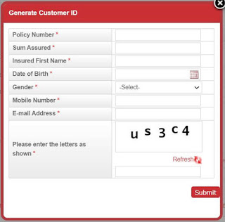 PLI online payment by using credit card