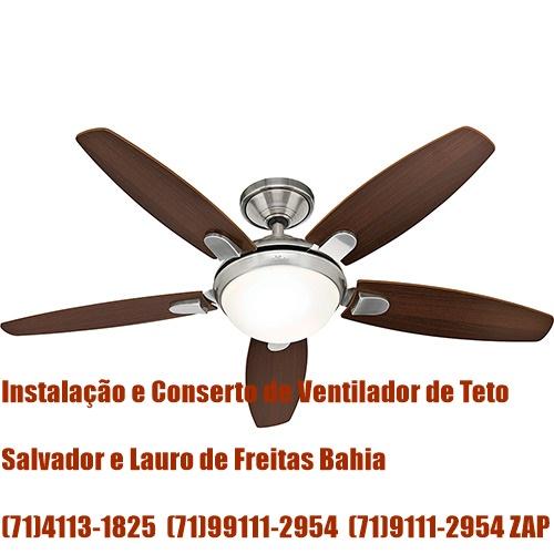 Instalação de Ventilador de Teto Hunter em Salvador-BA (71)4113-1825