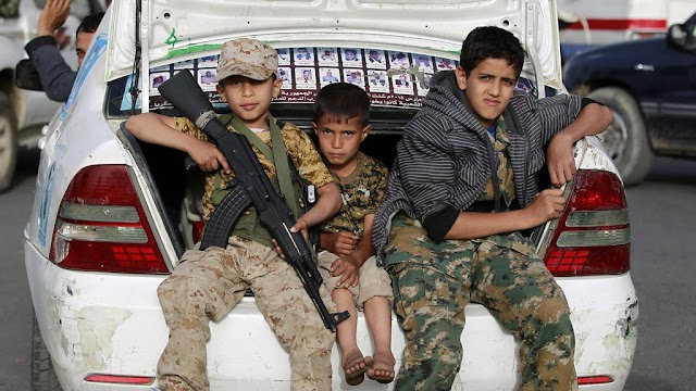 #HumanRights : Children fight,kill and die in Yemen's #war
