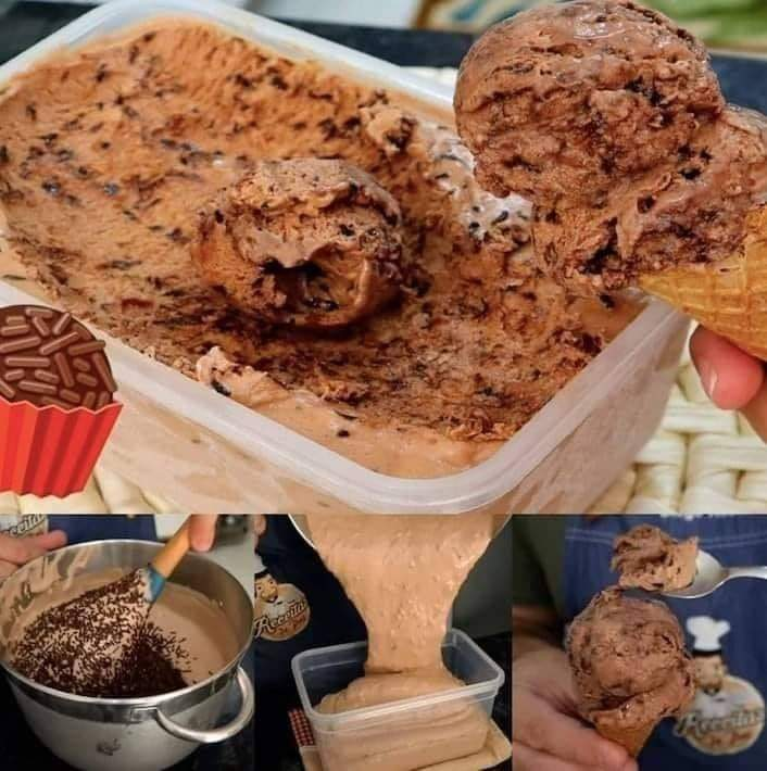 Receita de sorvete de brigadeiro