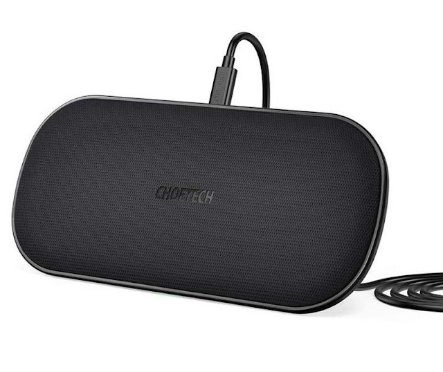4. Choetech Dual Fast Wireless Charger