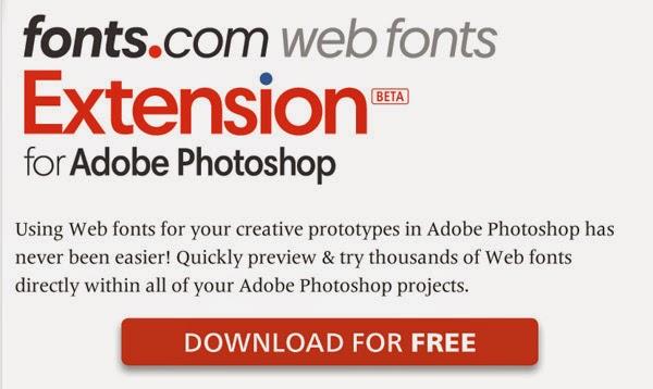 Photoshop hadir dengan pilihan font secara default, tetapi dengan penambahan ekstensi Fonts.com Web Font Anda bisa mendapatkan akses ke ribuan lebih. Ekstensi memungkinkan Anda melihat dan mencoba Web font dalam proyek Photoshop Anda . Anda akan memerlukan account Fonts.com untuk menggunakan ekstensi ini.