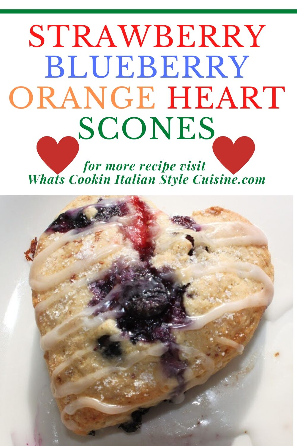 this is a fruit scone for memorial day or 4th of july since it's red white and blue fruits