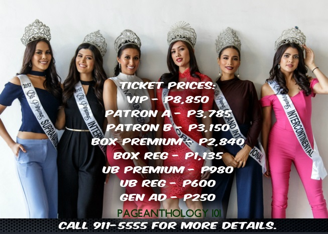 Bb  Pilipinas 2018 Ticket Information - Pageanthology_101