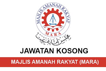 Jawatan Kosong Terkini Majlis Amanah Rakyat (MARA) | Tarikh Tutup: 16 Jun 2019