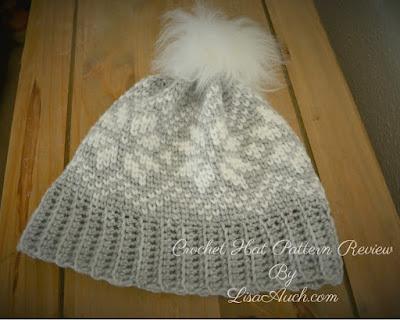 EASY snowflake crochet hat pattern free