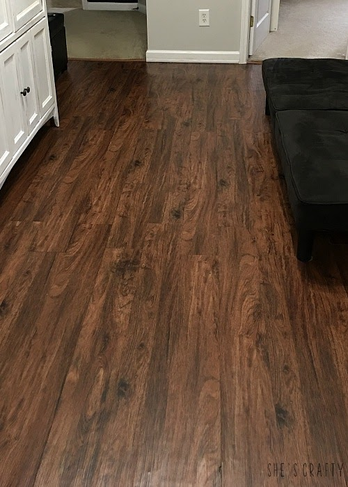 She Crafty How Achieve Wood Look Flooring Vinyl