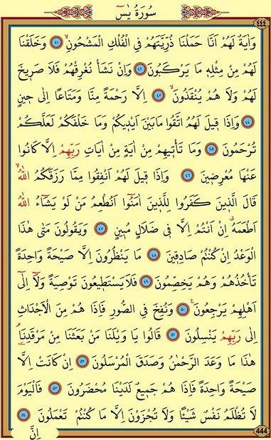 Yasin Suresi Arapça 4. Sayfa