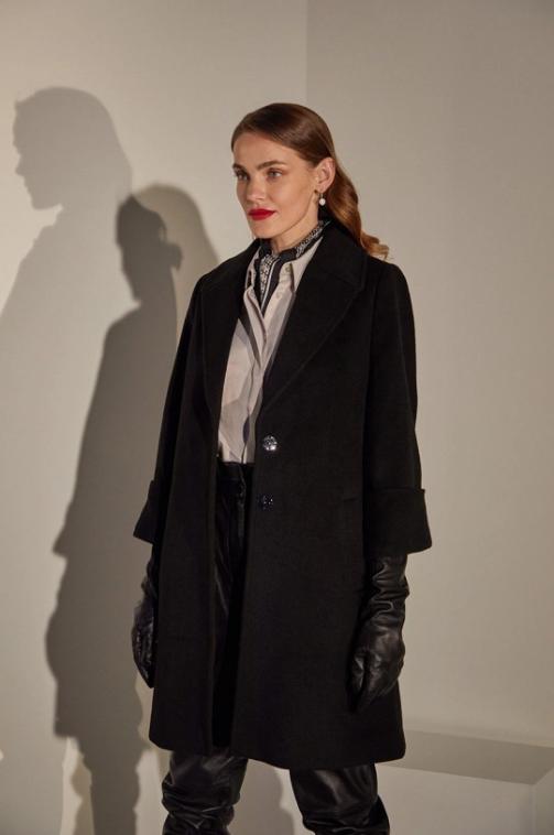 answear.LAB limited collection - Palton negru de dama casual-elegant