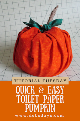 Homemade Quick and Easy Stuffed Pumpkin Made with a Roll of Toilet Paper