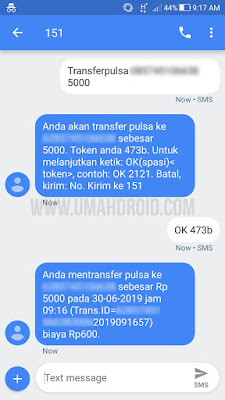 Prosees Transfer Pulsa Indosat IM3