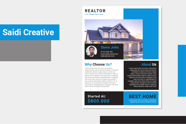 Free Realtor Flyer Template Ms. Word Document Fully Editable File
