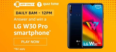 Lg W30 Pro Smartphone Quiz Answer