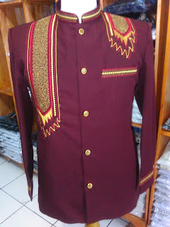 jasko bahan wool motif bordir surban warna merah marun