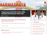 Pengumuman Hasil Akhir CPNS 2018 Kabupaten Dharmasraya