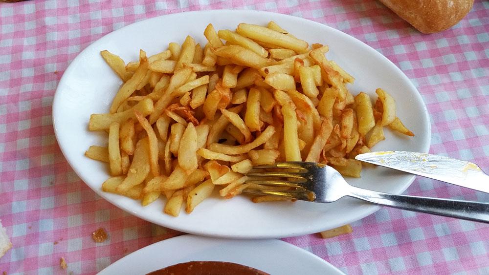 Patatas de  Casa Colo Ceceda