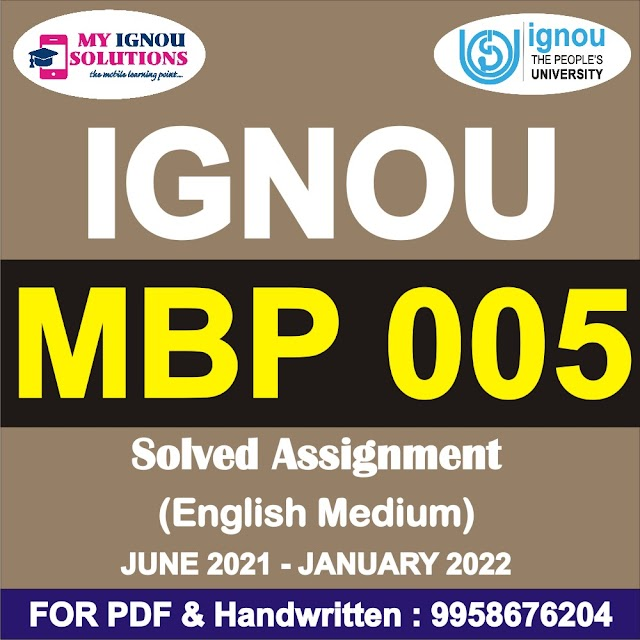 MBP 005 Solved Assignment 2021-22