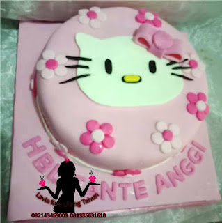 Kue Tart Hello Kitty Full Fondant