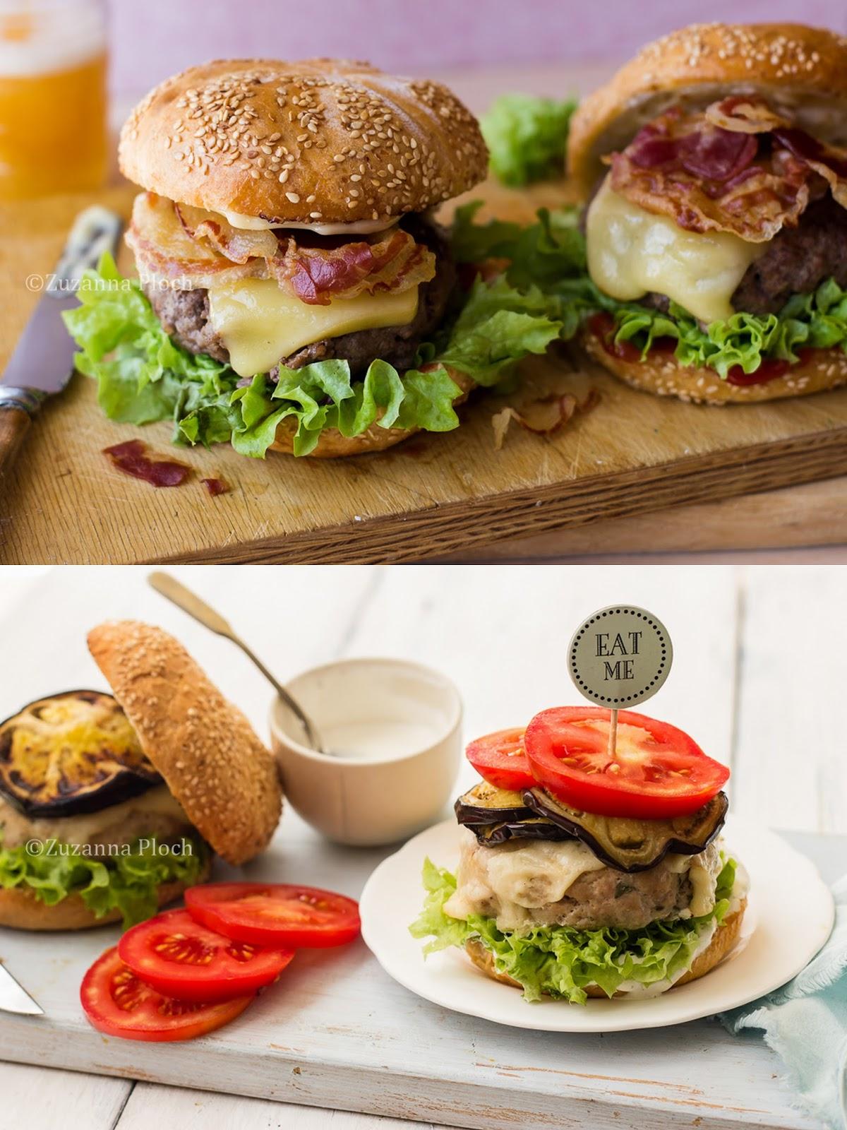 Burgery - zdjęcia potraw i z procesu przygotowania
