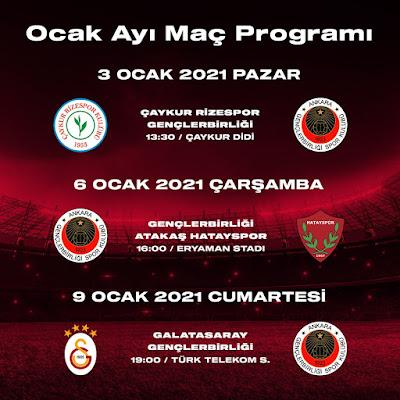 Gençlerbirliği Maç Programı