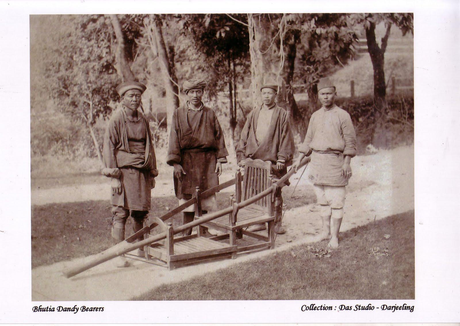 Bhutia Dandy (Carrying Chair) Bearers - c1880's