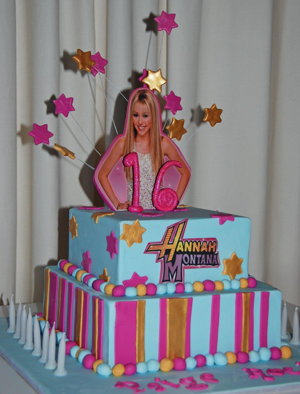 Little Robin Hannah Montana 16th Birthday Cake