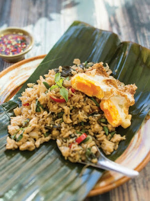 Holy Basil Chicken Fried Rice with Fried Egg Recipe