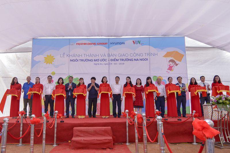 Hyundai Thành Công khánh thành trường tiểu học tại Nghệ An