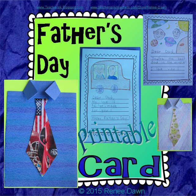 https://www.teacherspayteachers.com/Product/Fathers-Day-Card-Shirt-Craft-1878050