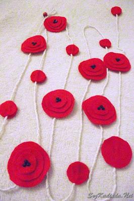keçeden çiçek yapımı modelleri