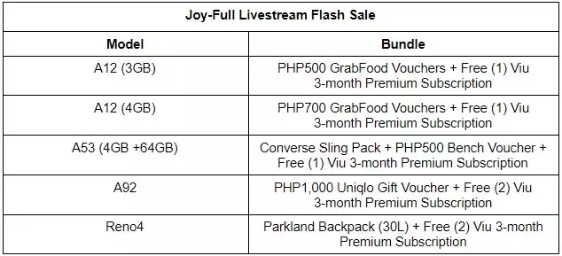 OPPO Joy-Full Livestream Flash Sale