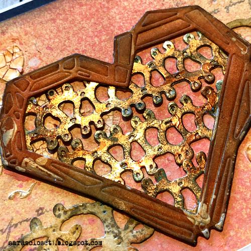Sara Emily Barker https://sarascloset1.blogspot.com/ Tim Holtz Sizzix Geo Frames Crochet 2 Valentine Card Set Tutorial 11