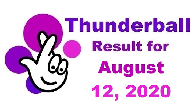 Thunderball Results for Wednesday, August 12, 2020