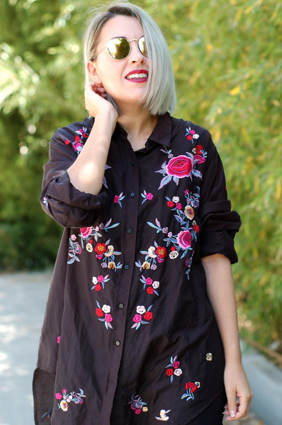 embroidered shirt Zara, granny shoes Pimkie sunnies Cheapass littledreamsbyr