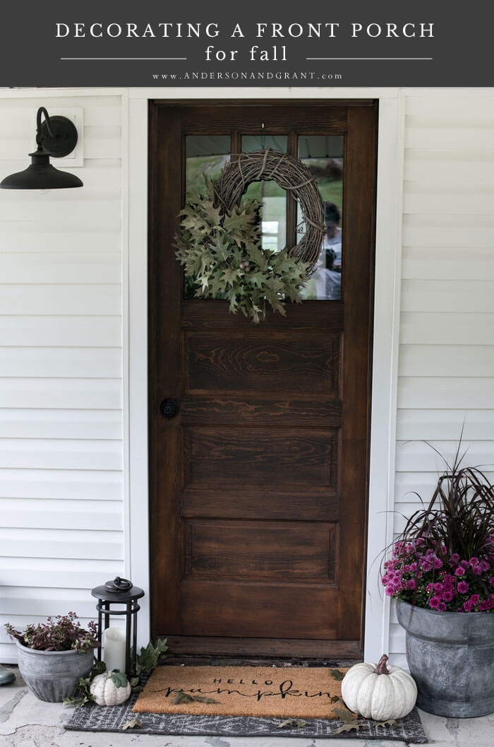 Learn six simple ideas for decorating your own front porch for fall.